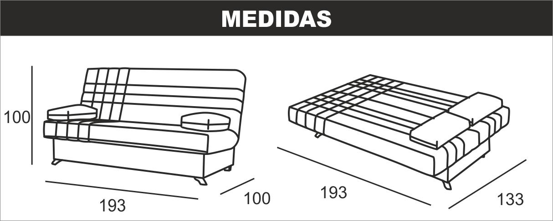 Medidas clic-clac Bed 1