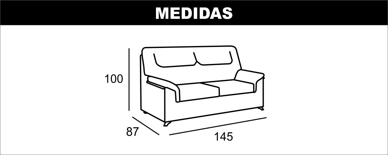 Medidas Sofá 2 Plazas Beta