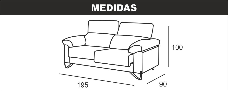 Medidas sofá de 3 plazas Condor