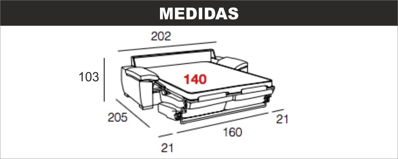 Medidas Sofá Cama Klein 140
