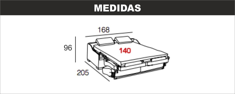 Medidas Sofá Cama Topo 140